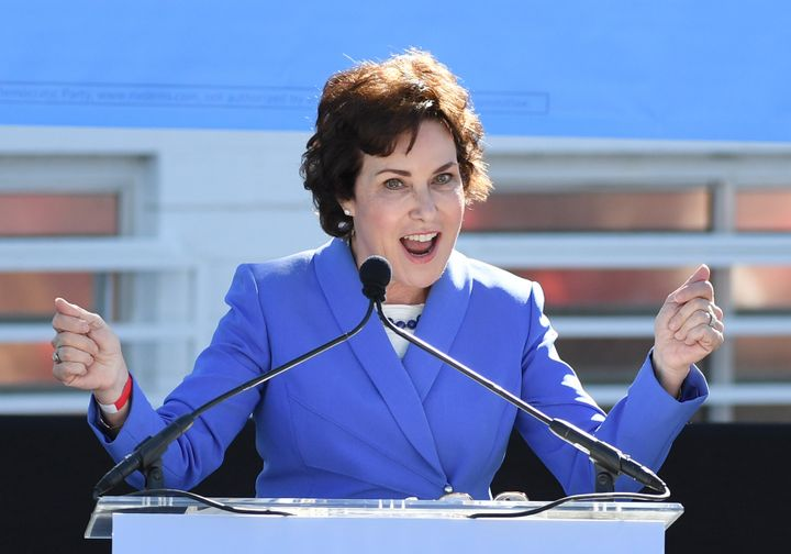 Rep. Jacky Rosen (D-Nev.) is hoping to take Dean Heller's Senate seat.