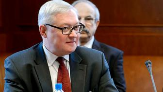 FILE PHOTO: Russian Deputy Foreign Minister Sergei Ryabkov looks on at the start of two days of closed-door nuclear talks at the United Nations offices in Geneva October 15, 2013. REUTERS/Fabrice Coffrini/Pool