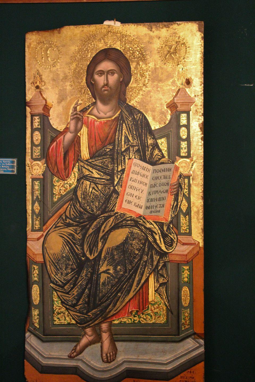 Ένθρονος Χριστός, δεσποτική...