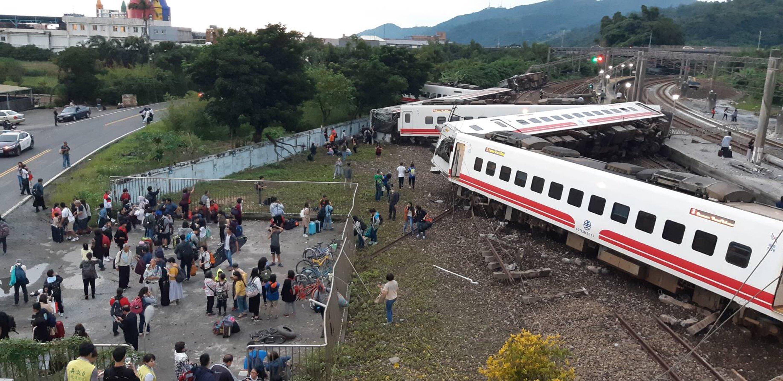 대만에서 최악의 열차사고가