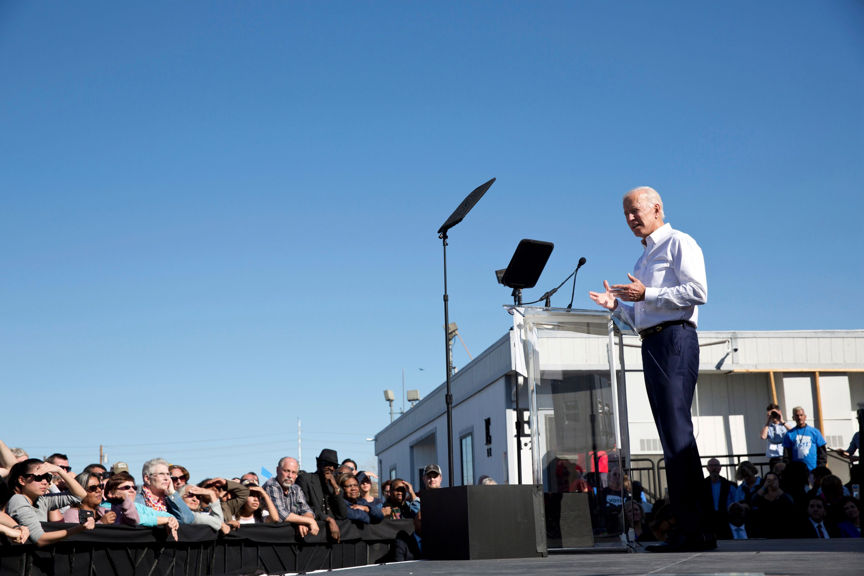 Former Vice President Joe Biden rallied Democrats in Las Vegas on Saturday