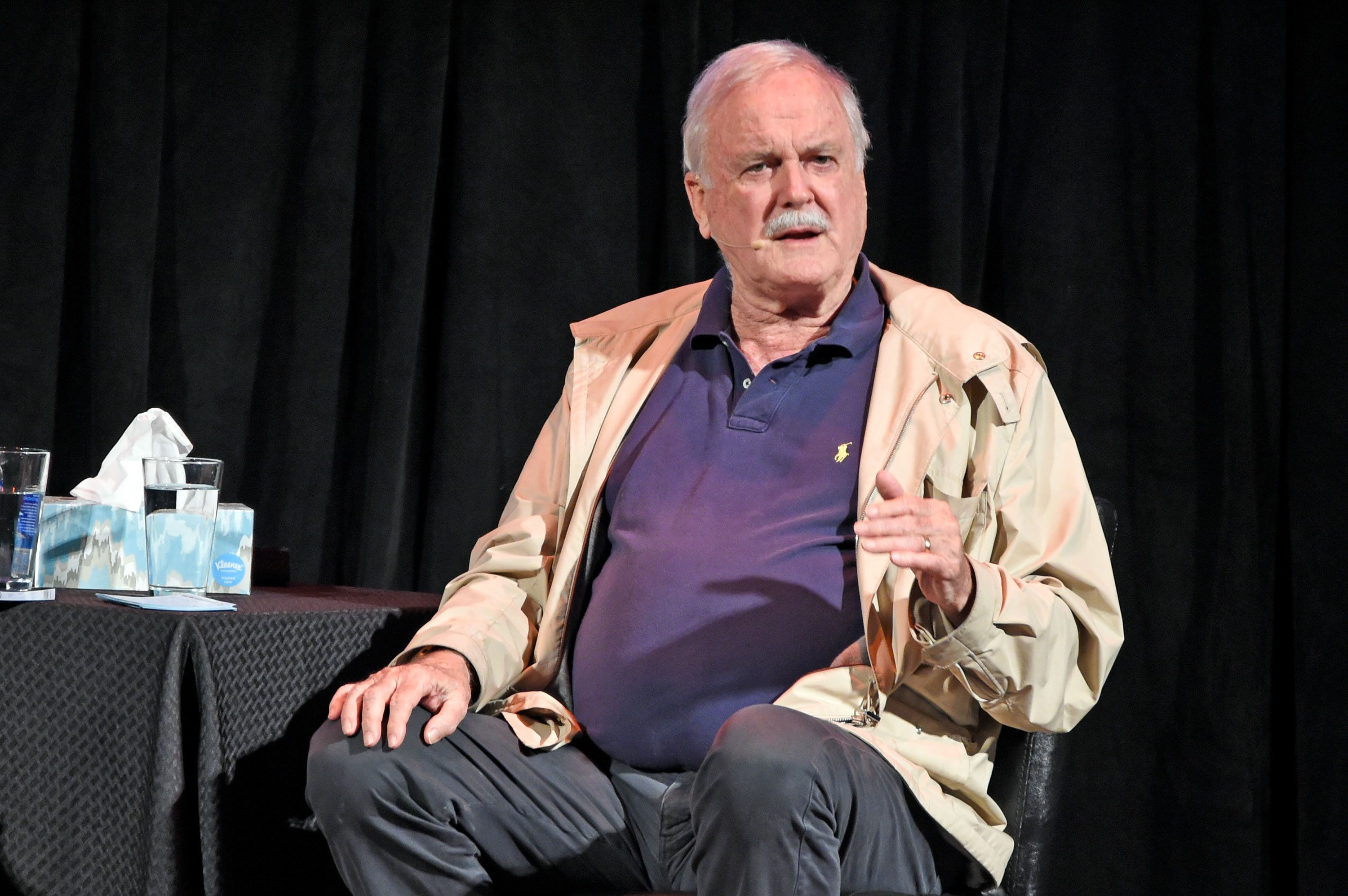 LOUISVILLE, KY - NOVEMBER 15:  John Cleese performs at The Louisville Palace on November 15, 2017 in Louisville, Kentucky.  (Photo by Stephen J. Cohen/Getty Images)
