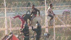 Douze militaires blessés en tentant d'empêcher des migrants de franchir la barrière de