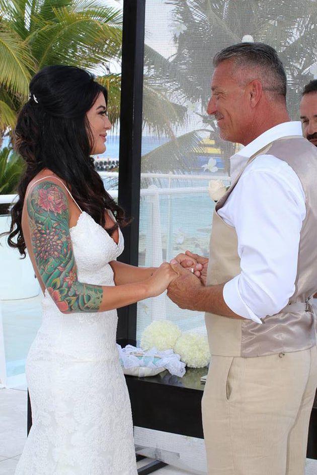 Taylor andKern Lehman bei ihrer Hochzeit im Mai