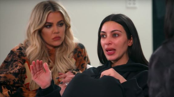 "Kardashian speaking about the robbery during an episode of ""Keeping Up With the Kardashians."""