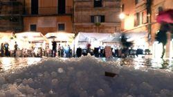 Rom: Heftiger Hagel- und Regensturm legt Stadt