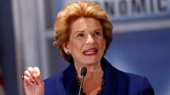 Democratic U.S. Senator Debbie Stabenow addresses the Detroit Economic Club meeting during the second debate against Republican challenger John James in Detroit, Michigan, U.S., October 15, 2018.  REUTERS/Rebecca Cook
