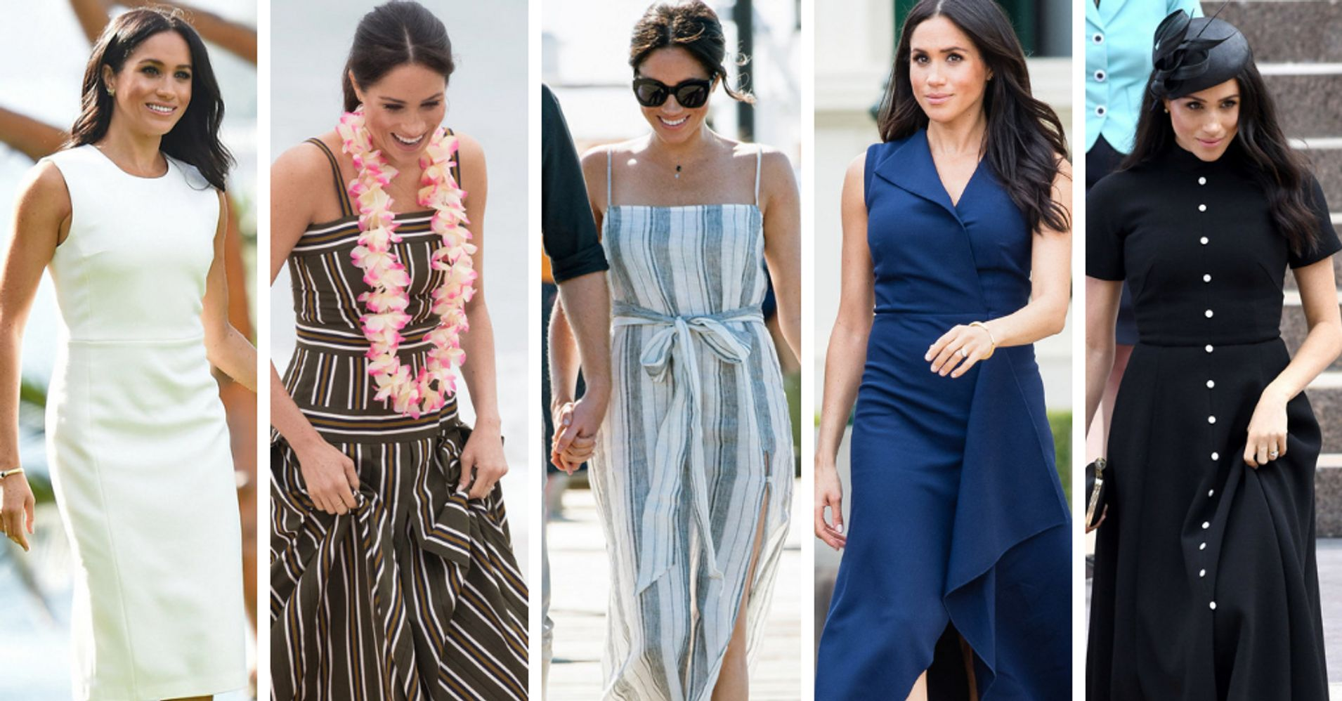 d36e53a0241f Where To Buy Meghan Markle s Royal Tour Dresses For Less