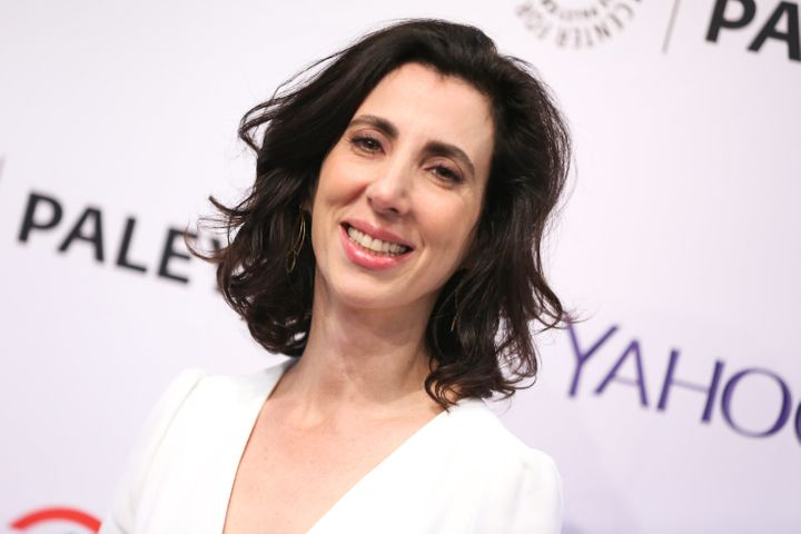 """Aline Brosh McKenna in New York City in 2015. """"Put your hand up. Men ask. Ask,"""" she urged women on Oct. 21."""