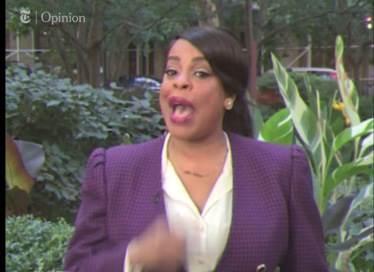 Niecy Nash in a satirical video for 1-844-WYT-FEAR