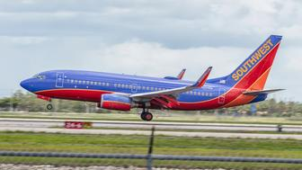 Southwest airlines N75435 taking off at Southwest Regional Airport in Ft.Myers Fl at 2:34PM