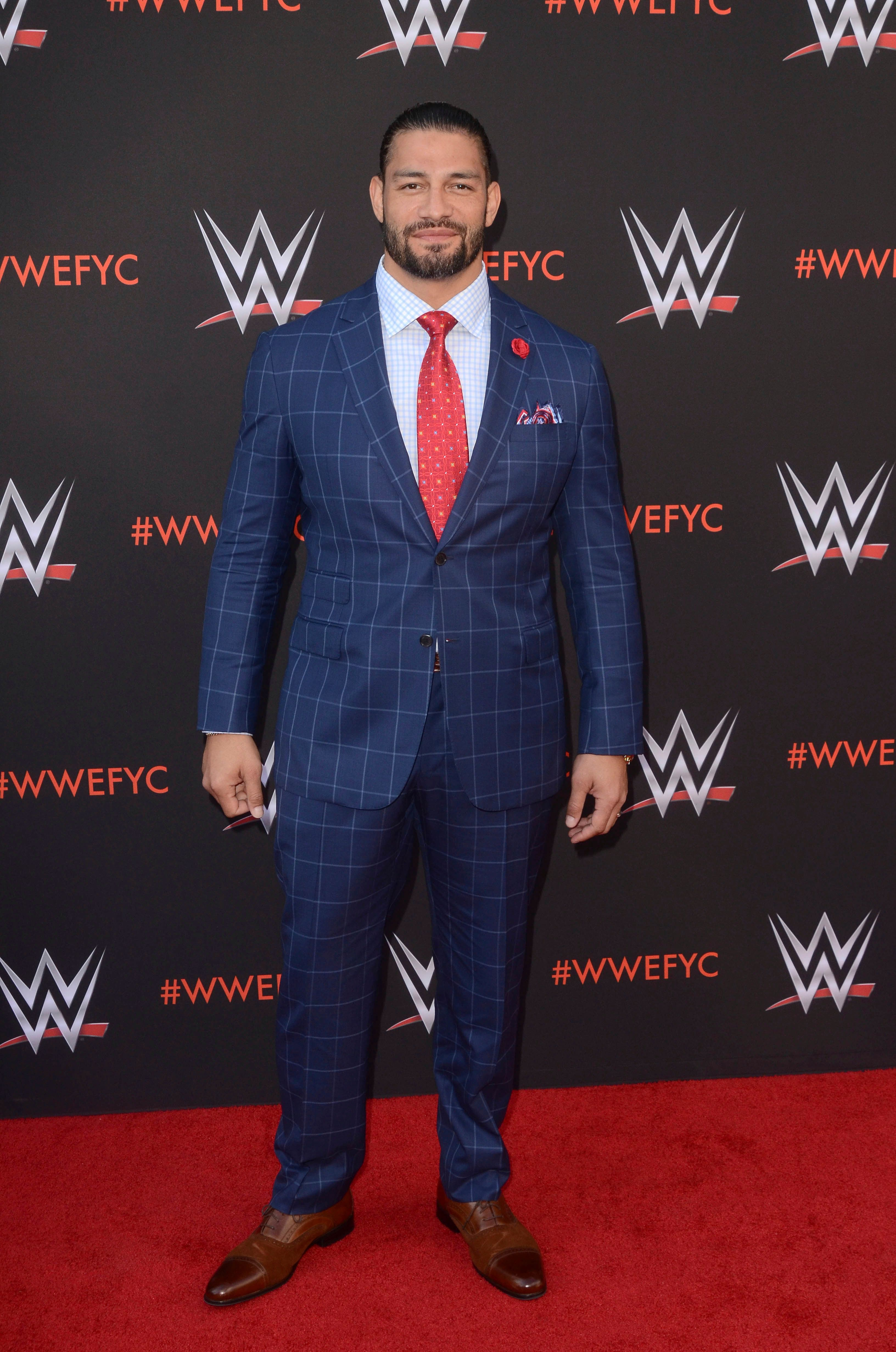 ***FILE PHOTO*** WWE's Roman Reigns Reveals Battle With Leukemia NORTH HOLLYWOOD, CA - JUNE 6: Roman Reigns at WWE's First-Ever Emmy For Your Consideration Event at The Saban Media Center in North Hollywood, California on June 6, 2018. Credit: David Edwards/MediaPunch /IPX