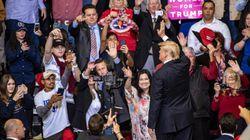 Donald Trump besucht Rally in Texas – und benutzt ein extrem brisantes