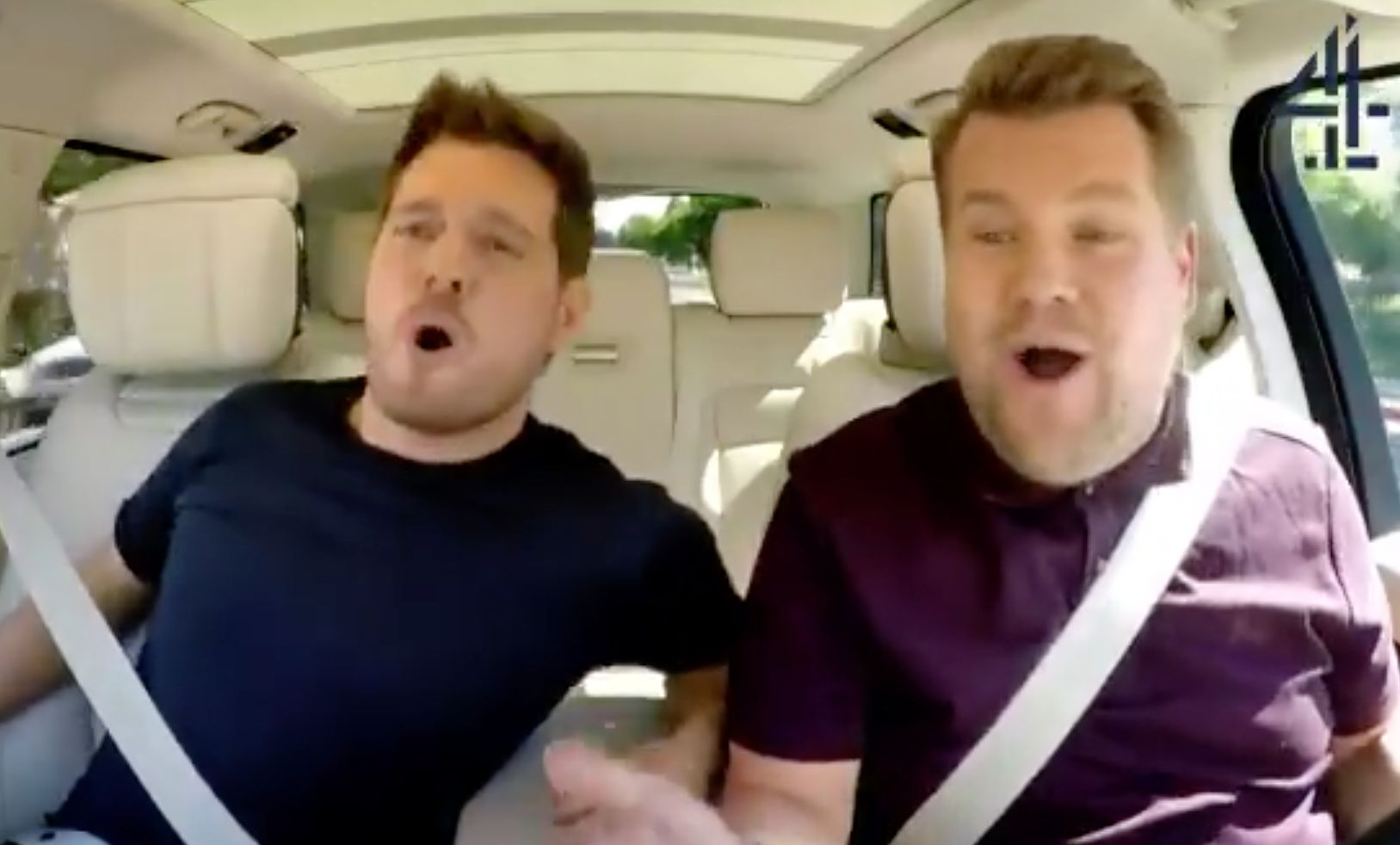 Michael Buble and James Corden