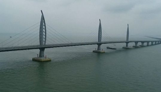 World's Longest Sea Bridge Connects Hong Kong And