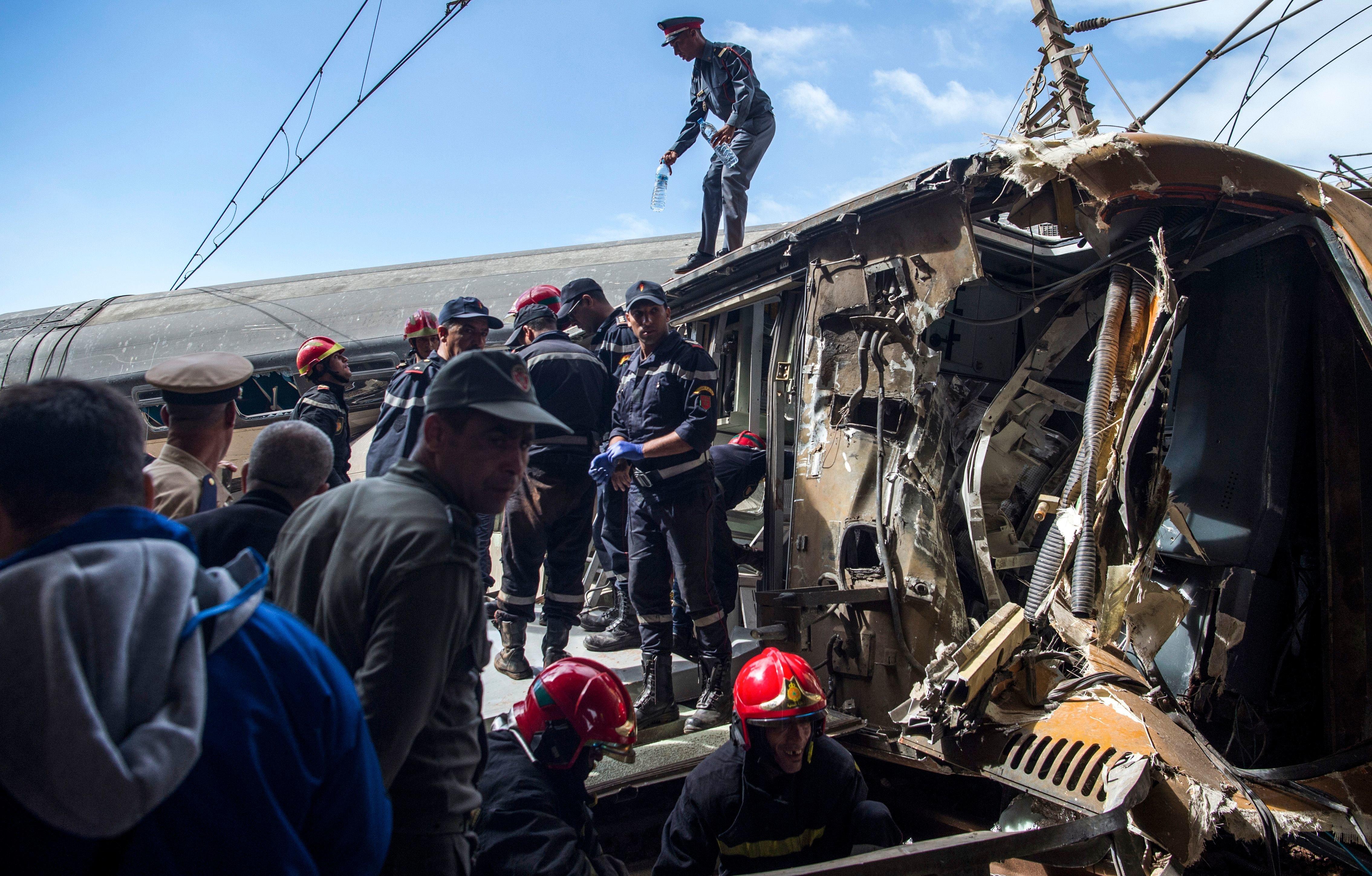 Déraillement de Bouknadel: Le train roulait à 158 km/h au lieu de 60 km/h