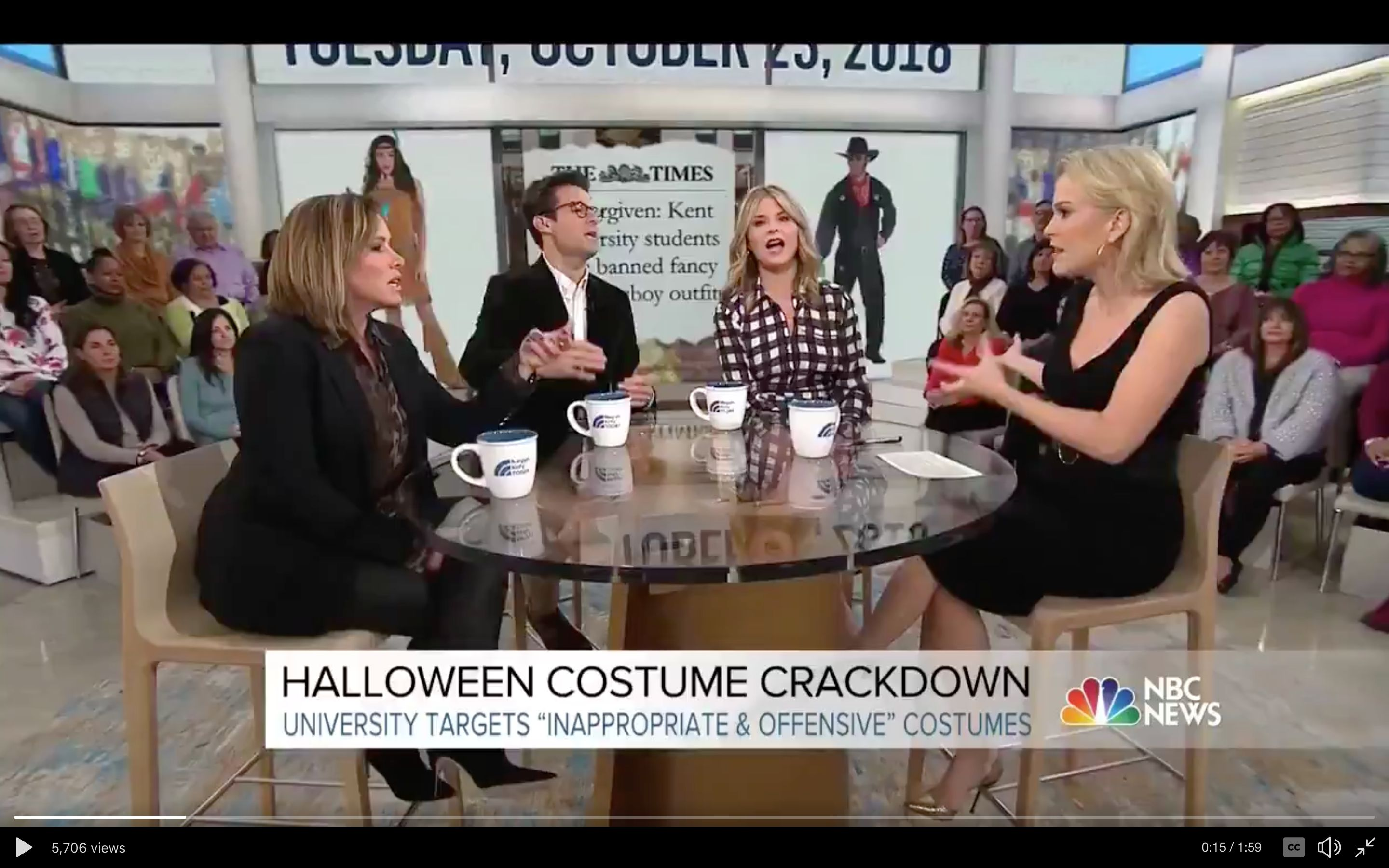 Megyn Kelly doesn't understand why blackface Halloween costumes are offensive