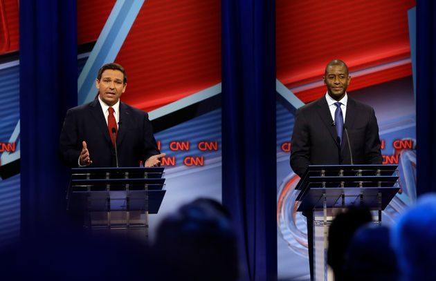 Ron DeSantis und Andrew Gillum bei der TV-Debatte am
