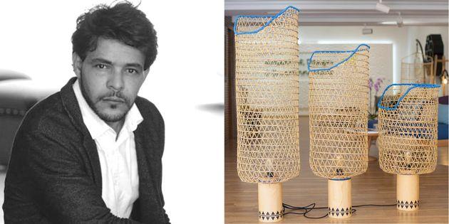 Lampes sur pieds de la collection NASSE par Khalid El