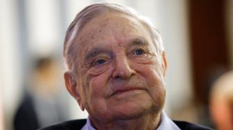FILE - In this May 29, 2018, file photo, philanthropist George Soros, founder and chairman of the Open Society Foundations, attends the European Council On Foreign Relations Annual Meeting in Paris. The FBI and local police responded to an address near Soros' home after an object that appeared to be an explosive was found in a mailbox. The Bedford Police Department said it responded to the address in the hamlet of Katonah, N.Y., Monday, Oct. 22, 2018, after an employee of the residence opened the package. (AP Photo/Francois Mori, File)