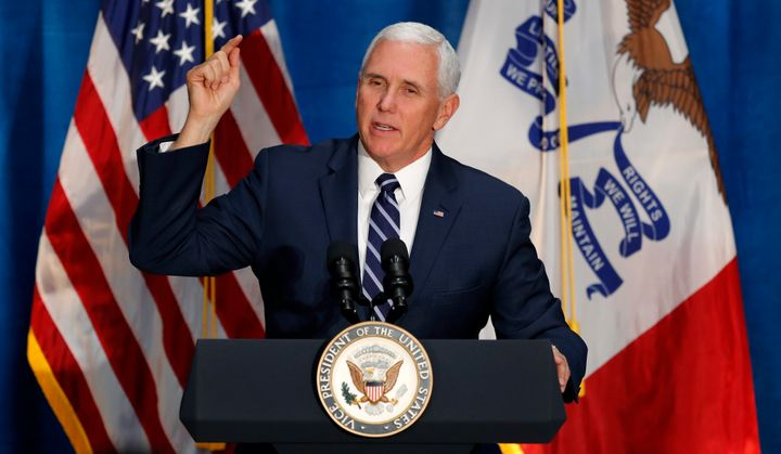 Vice President Mike Pence has joined President Donald Trump in calling for a caravan of asylum-seekers to stay away.