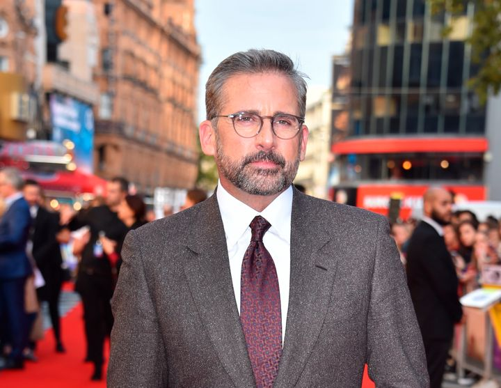 "Steve Carell attends the U.K. premiere of his film ""Beautiful Boy."""