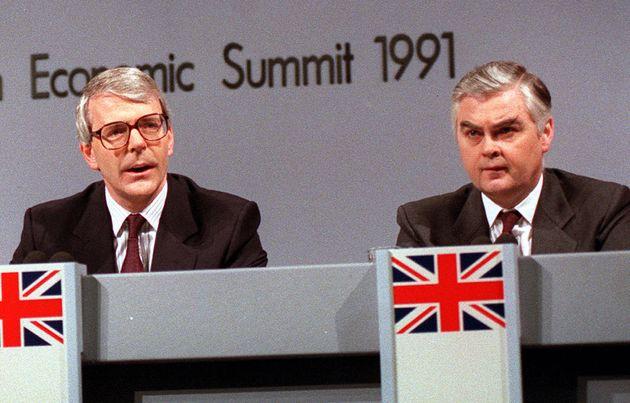 John Major and Chancellor Norman Lamont