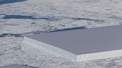 NASA가 완벽한 직사각형의 남극 빙산을