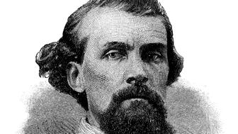 Lieutenant General Nathan Bedford Forrest - Scanned 1887 Engraving