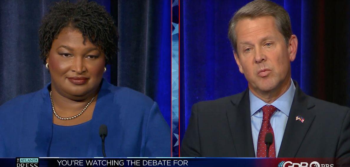 Georgia gubernatorial candidates Stacey Abrams and Brian Kemp debate