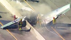 Vintage Plane Crashes Onto Los Angeles