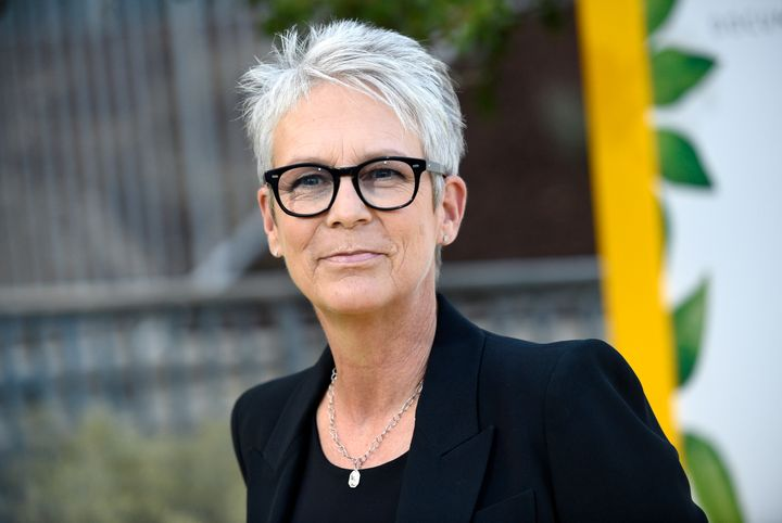 Jamie Lee Curtis attends 2018 Comic Con.