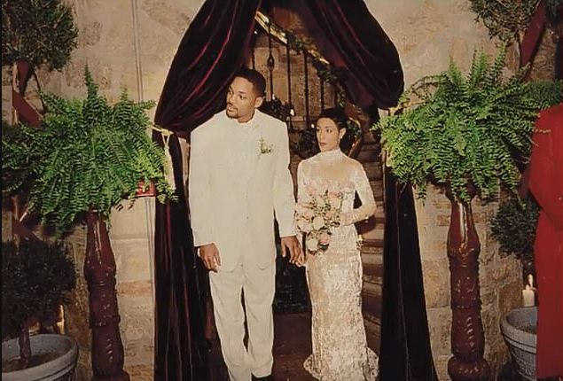 Will Smith and Jada Pinkett Smith on their wedding day in 1997.