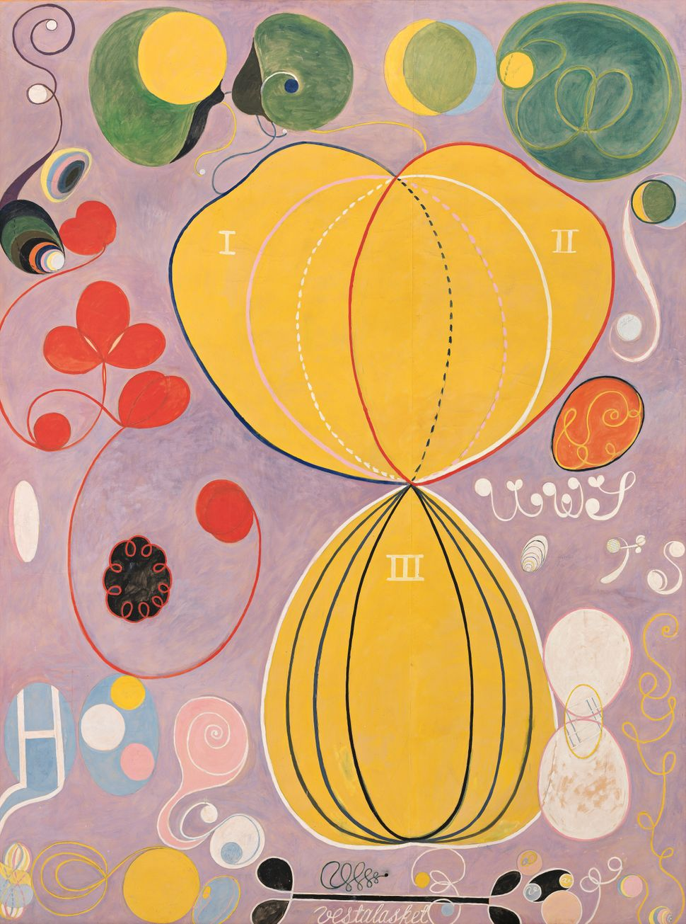 "Hilma af Klint's ""The Ten Largest, No. 7., Adulthood, Group IV,"" 1907."