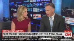 Bombenfund: CNN-Moderatoren müssen Büro vor laufenden Kameras