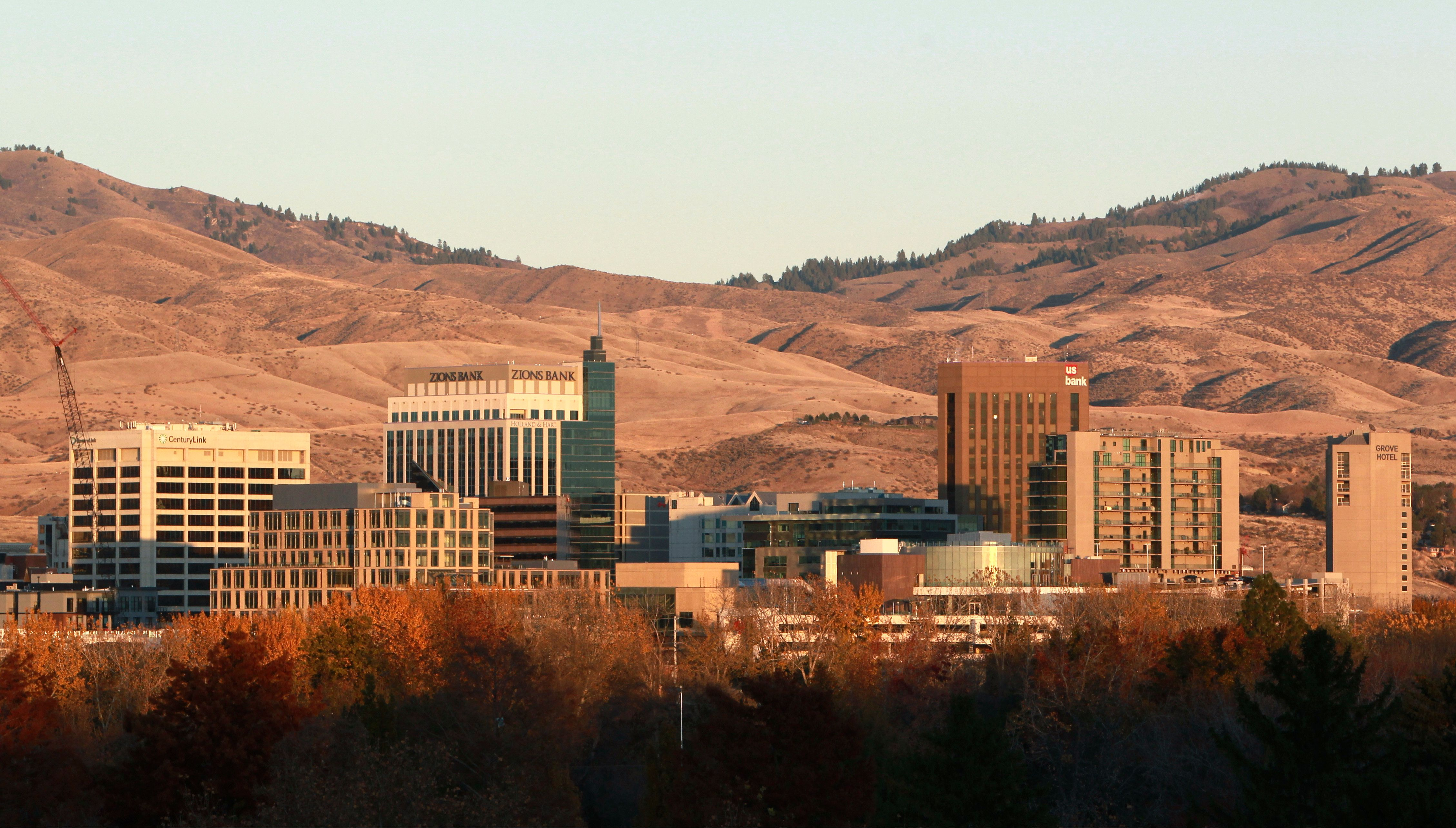 BOISE, ID - NOVEMBER 14, 2017: The downtown Boise skyline. (Photo by Joe Jaszewski for The Washington Post via Getty Images)