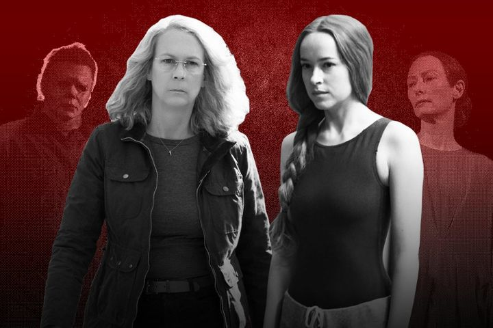 "Jamie Lee Curtis and Dakota Johnson headline ""Halloween"" and ""Suspiria,"" respectively, with Michael Myers and Tilda Swinton a"