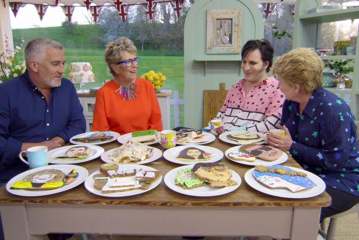 """The Great British Baking Show"" on Netflix."