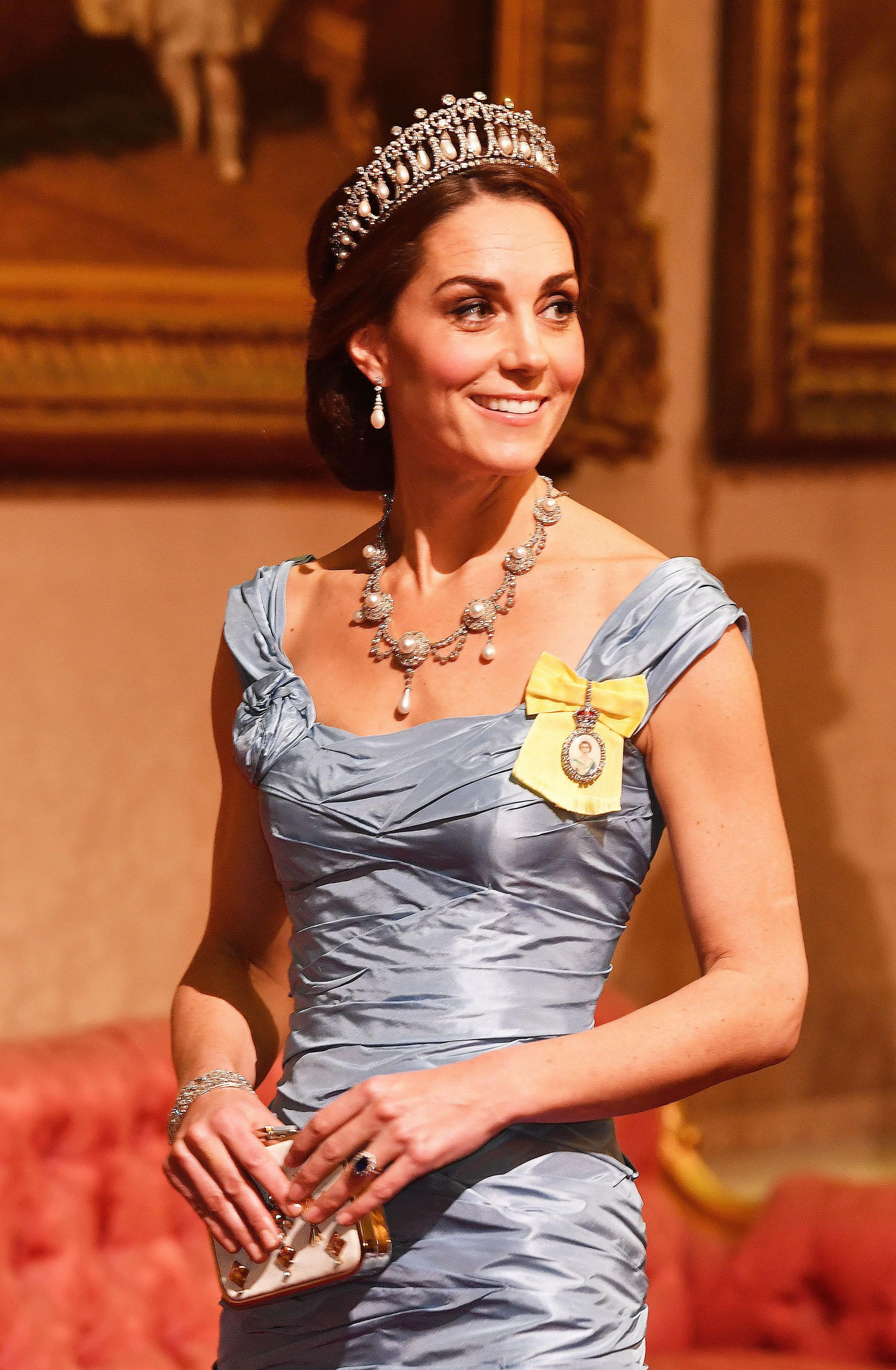 The Duchess of Cambridge during the state visit by King Willem-Alexander and Queen Maxima of the Netherlands,...