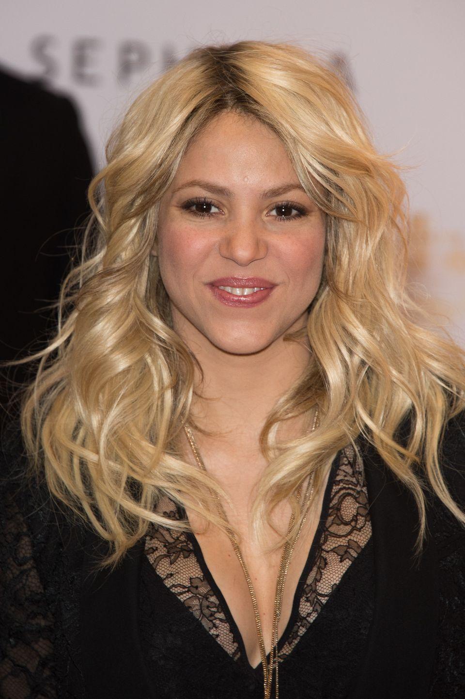 Shakira en el lanzamiento de su perfume 'S By Shakira' en París, Francia.  (Photo by Dominique Charriau/Getty Images for Seph