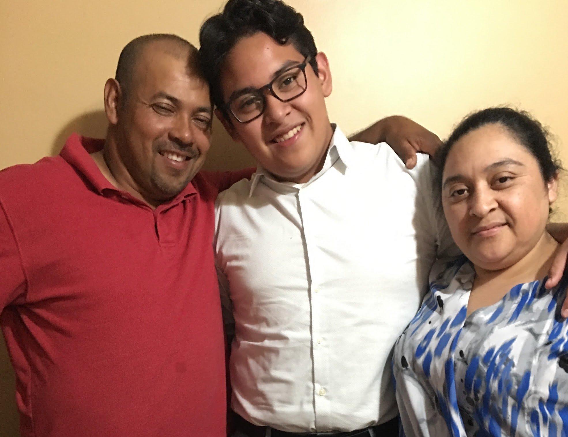 Samuel Amaya; his older son, Sam Amaya; and his wife, Idalia Majano-Amaya, are all living in the U.S. under temporary protect