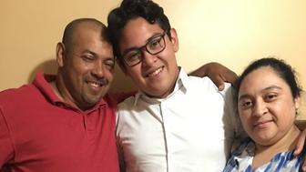 Samuel Amaya and parents