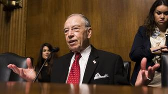 Senator Chuck Grassley, chairman of the Senate Judiciary Committee, fired off a letter to two Washington Democrats on Thursday asking them to return blue slips for the nomination of Perkins Coie partner Eric Miller.