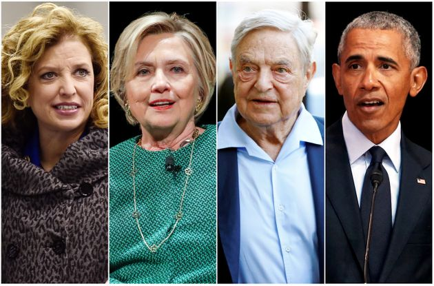 Wasserman Schultz, Clinton, Soros and Obama.