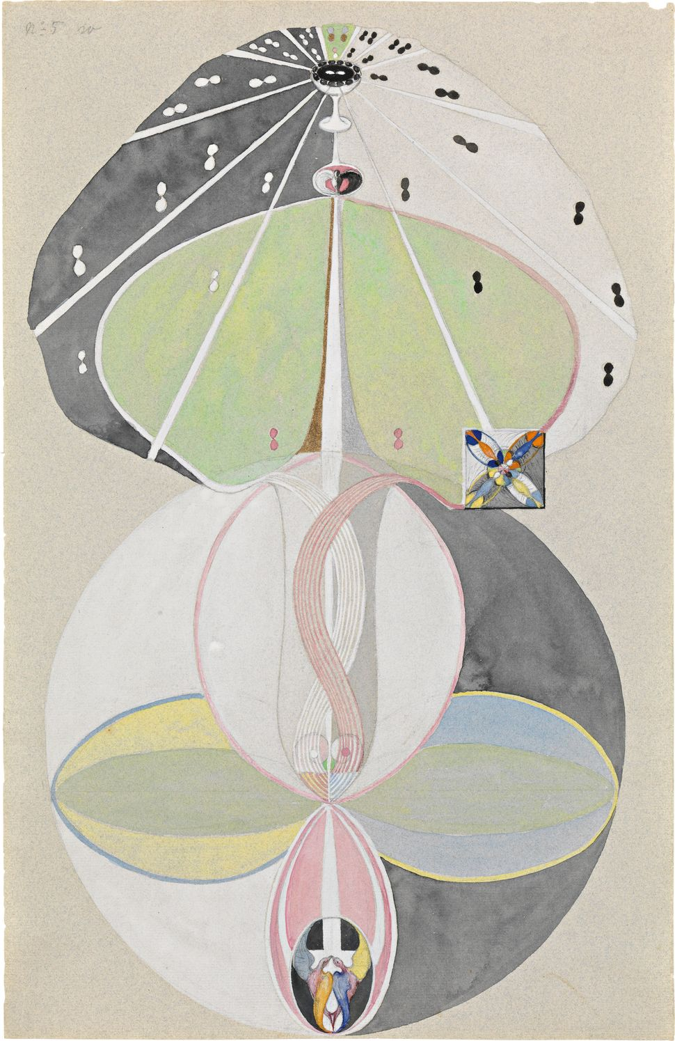 "Hilma af Klint's ""Tree of Knowledge, No. 5 (Kunskapens träd, nr 5),"" 1915."