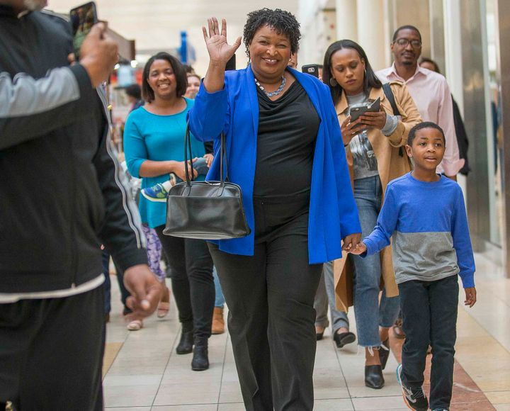 Stacy Abrams, a Democrat seeking to become the first black woman elected governor in the U.S.