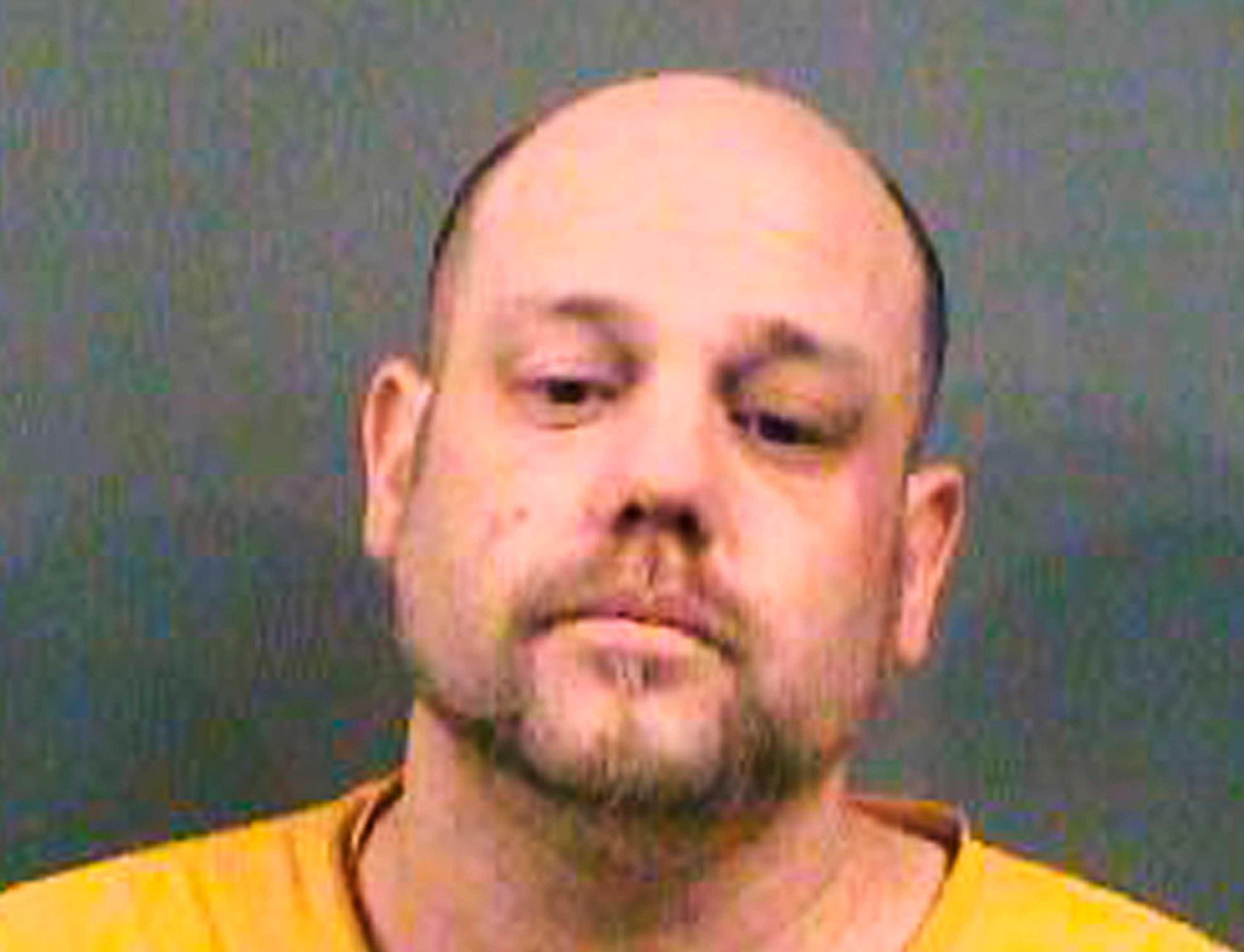 <p> FILE - This file photo provided by the Sedgwick County Sheriff's Office in Wichita, Kan., shows Stephen Bodine, of Wichita, who was convicted Wednesday, Oct. 24, 2018, of first-degree murder in the May 2017 killing of a 3-year-old Evan Brewer whose body was found encased in concrete in the laundry room of his home four months after his death. (Sedgwick County Sheriff's Office via AP, File) </p>
