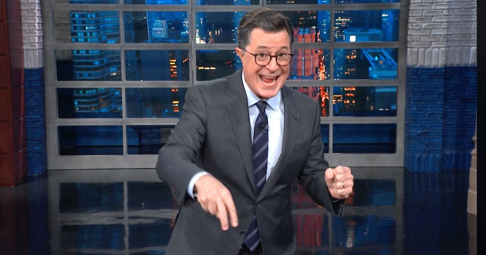 Colbert Hits Trump's Response To Bomb Scare With A Brutal