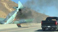 독일 나치 상징을 단 빈티지 비행기가 캘리포니아에서