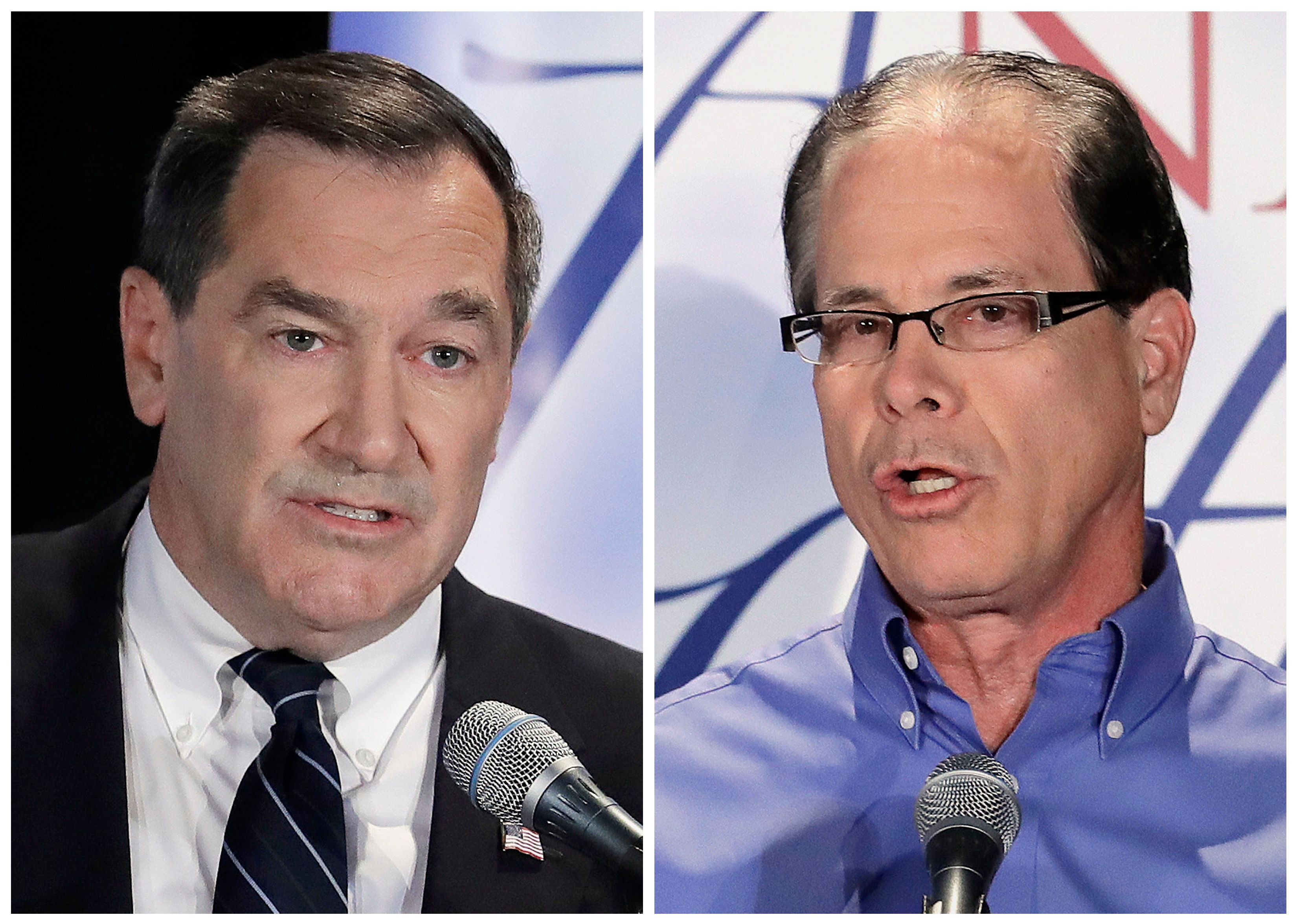 Indiana Democrat Sen. Joe Donnelly (left) lost to Republican challenger Mike Braun (right)